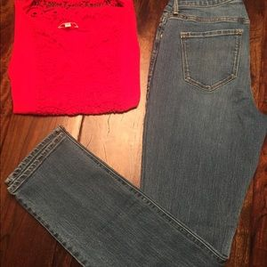 Old Navy Jeans curvy profile...like new!